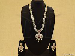 Party Wear AD Necklace Set Jewellery