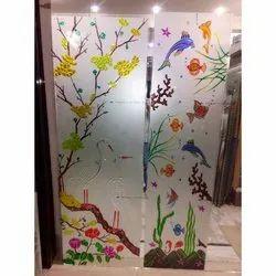 Designer Air Brushed Glass for Decoration