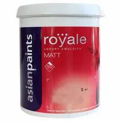 Asian Paints White Royale Luxury Emulsion Matt Paint, Packaging Type: Bucket, Packaging Size: 1 L