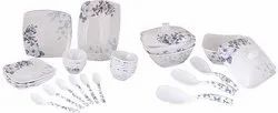 Sharewell Floral Melamine Glazed Dinner Set, 40 Pieces