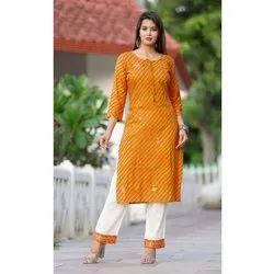 Cotton Ladies Kurti With Pant