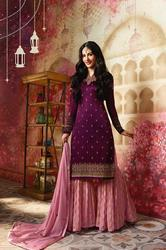Glossy Amyra Sharara Suit
