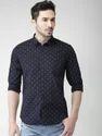 Black Full Sleeves Mens Casual Shirts
