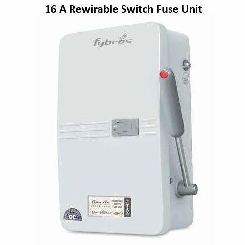 16 Amp / 240V Rewirable Switch Fuse Unit