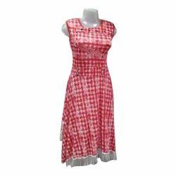 Ladies Sleeveless Long Top, Size: L-XL