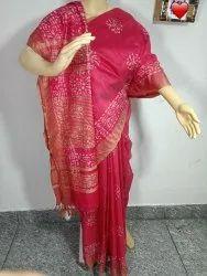 Kota Temple Hand Batik Printed Sarees