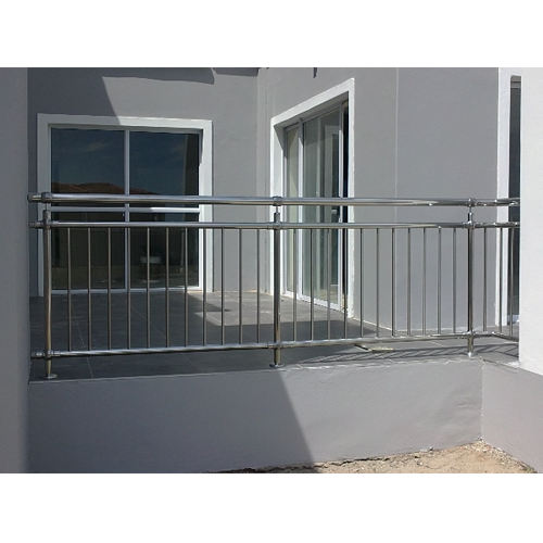 Silver Stainless Steel Balcony Railing, Rs 375 /foot, S. R ...