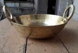 Brass Kadai, For Home, Shape: Round
