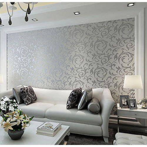 Living Room Wallpaper at Rs 50 /square feet   वॉलपेपर - Sagar ...