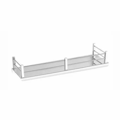 Easyhome Furnish Silver 12 Inch Ss, Bathroom Wall Rack