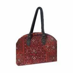 Hak Enterprises Red Printed Luggage Bag