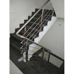 SS Pipe Staircase Railing