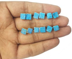 Turquoise Raw Stud Earrings