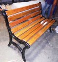 Without Arms FRP Cast Iron Garden Bench