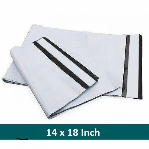 White & Black 14 x 18 Pod Printed Courier Bags, Size: Min 4x6, Max 20x23