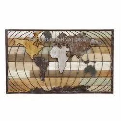 World map decorative wall art