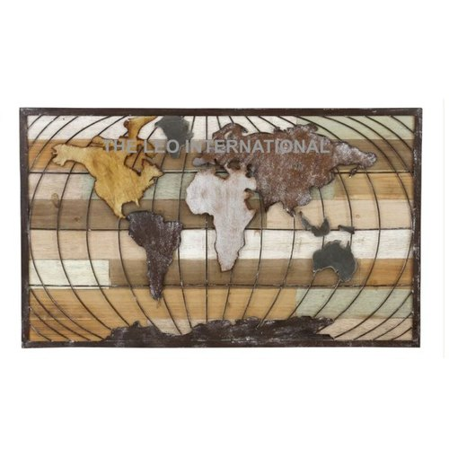 Antique TLI World Map Decorative Wall Art | ID: 20499991433