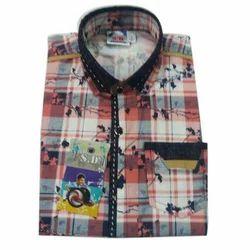 Cotton Designer Check Shirt