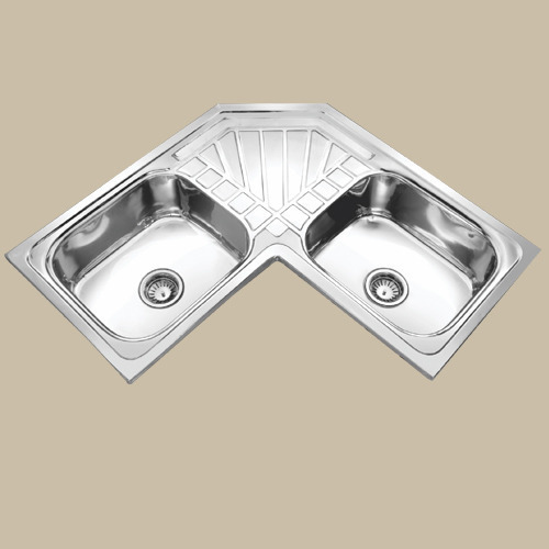 Corner Butterfly Double Bowl Kitchen Sink At Rs 10000 Unit Ariyalur Id 20001285962