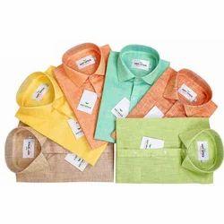 All Sizes Khadi Mens Plain Shirt