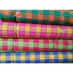 Cotton Polyester Red BOXER CHECK FABRIC, GSM: 100-150