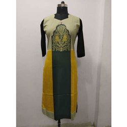 3/4 Sleeve Ladies Silk Kurti