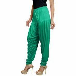 XL And XXL Stitched Ladies Green Patiala Palazzo Pant