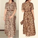 Western Stitched Ladies Printed Cotton Gown