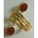 Handmade Gemstone Exclusive Gold Plated Brass Ring