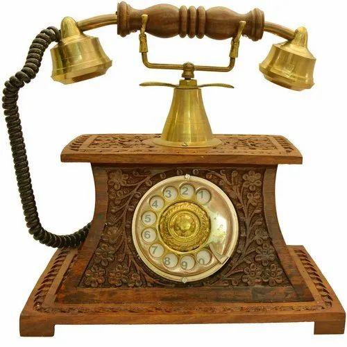12 stars Brown Wooden Landline Telephone