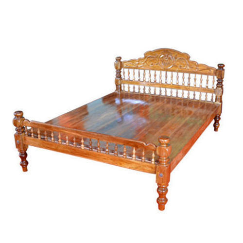 Wooden Carving Double Bed Wooden Full Size Bed - R.T.S. Furniture