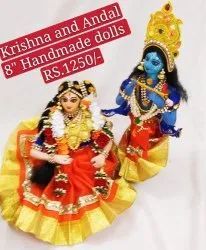 Krishna And Andal Golu Doll