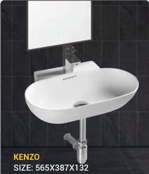 Wall Mounted White Wash Basin, For Bathroom