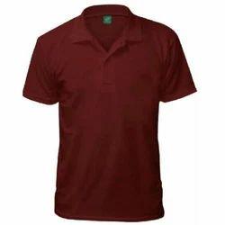 Men's Cotton  Half Sleeves Plain Polo Neck T Shirt