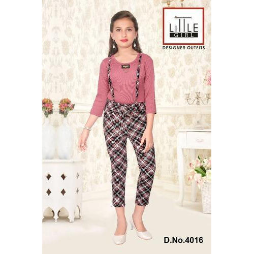 32d2cf7cdb Full Length Cotton Girls Jumpsuit
