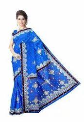 Kundan Work Design Gaji Silk Bandhani Saree
