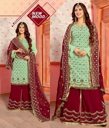 Georgette Suit Designer Dress Straight Dress
