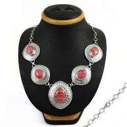 925 Sterling Silver Rhodochrosite Necklace