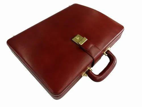 1fb7f86ab867 Men's Genuine Leather Attache Briefcase Vintage Executive Business Handbag  Laptop Macbook Case