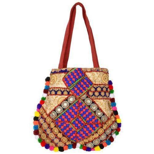 Stylish Violet Hand Craft Held Bag