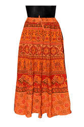 Bagru Printed Cotton Skirt