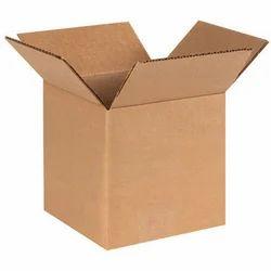棕色矩形普通瓦楞包装盒,厚度:3层