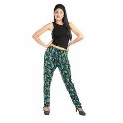 Digital Printed Ladies Rayon Pants