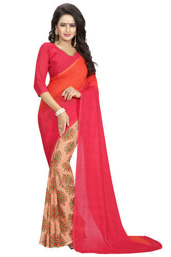 4f5432fcbc Georgette Party & Festive Wear Floral Printed Sarees, Rs 260 /piece ...