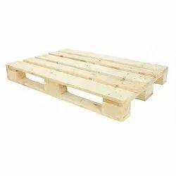 Brown Rectangular Hardwood Wooden Pallet