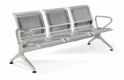 Stainless Steel Three Seater Airport Chairs