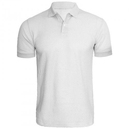 Cotton White Collar T Shirt, Size: Small,Medium,Large