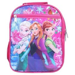Nylon Pink Girls Printed School Bag