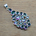 925 Sterling Silver Jewelry Mystic Topaz Gemstone Pendant