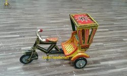 Wooden Rickshaw Miniature Handicraft